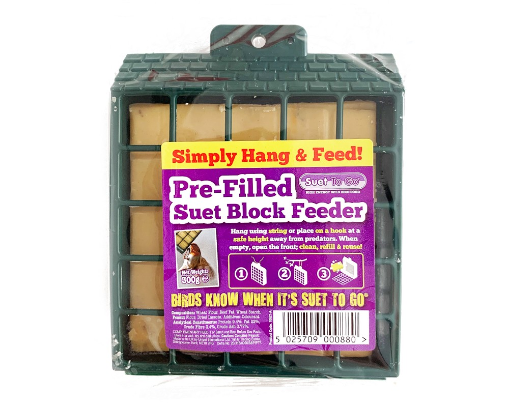 Suet To Go Pre-Filled Suet Block Feeder